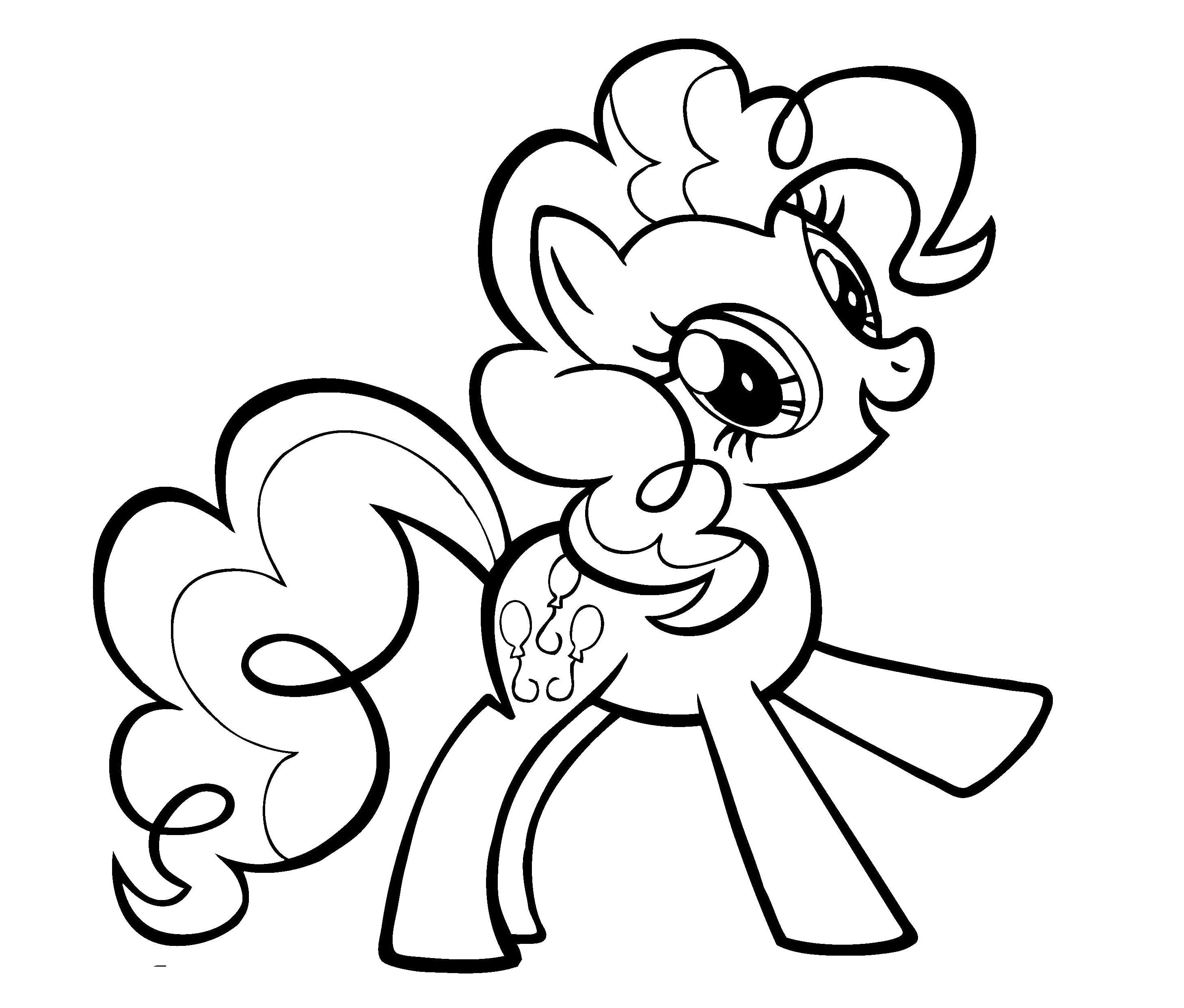 My Little Pony Coloring Pages Pinkie Pie And Rainbow Dash Di 2020 Gambar Anak
