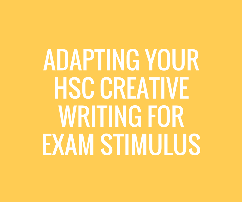 hsc english belonging creative writing ideas This is a practice creative writing for hsc trial exam based on an individual's sense of belonging.