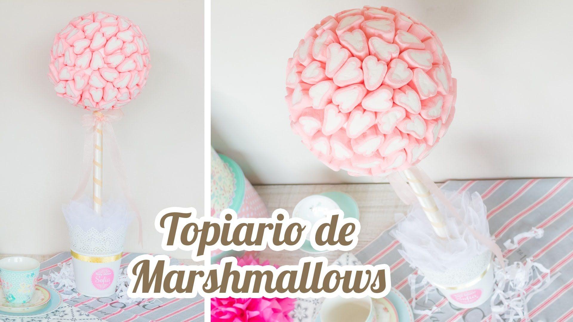 Topiario de marshmallows coraz n 10 mesa dulce para - Novedades para baby shower ...