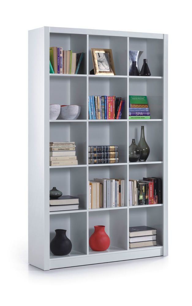 Cube Triple White Gloss Ziggy Bookcase Room Divider Shelf Shelving Display. Cube Triple White Gloss Ziggy Bookcase Room Divider Shelf Shelving
