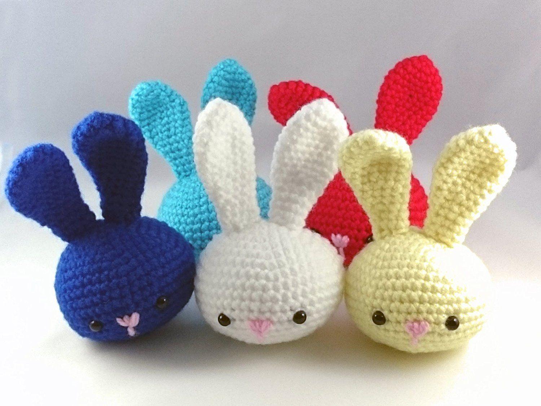 Amigurumi Bunny Pencil Holder : Handmade crochet hand therapy squeezable stress ball amigurumi