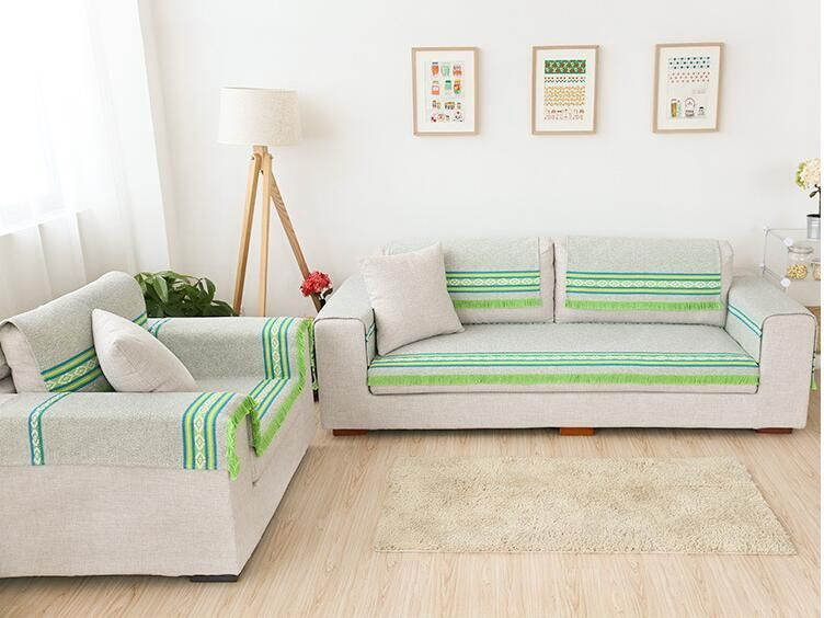 90cm Width Cotton Sofa Towel Sectinal Sofa Cover Slip Resistant Single Seat  Double Seat