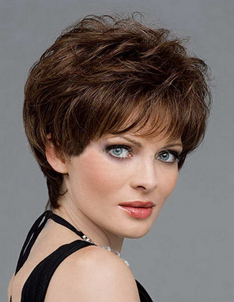 Hot sale heat resistant synthetic brown short hair wigs for black