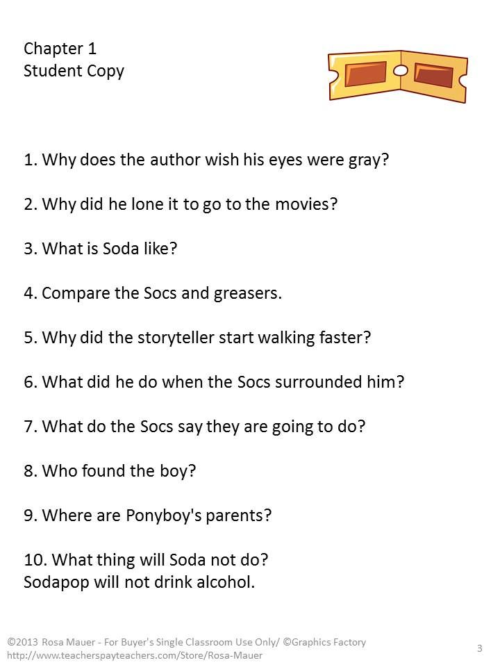 The outsiders novel study comprehension questions reading outsiders is the focus of this book study chapter by chapter reading comprehension questions fandeluxe Choice Image