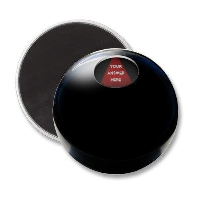 -sold-  #Magic8Ball Refrigerator Magnet by #gravityx9 shipping to Houston, TX