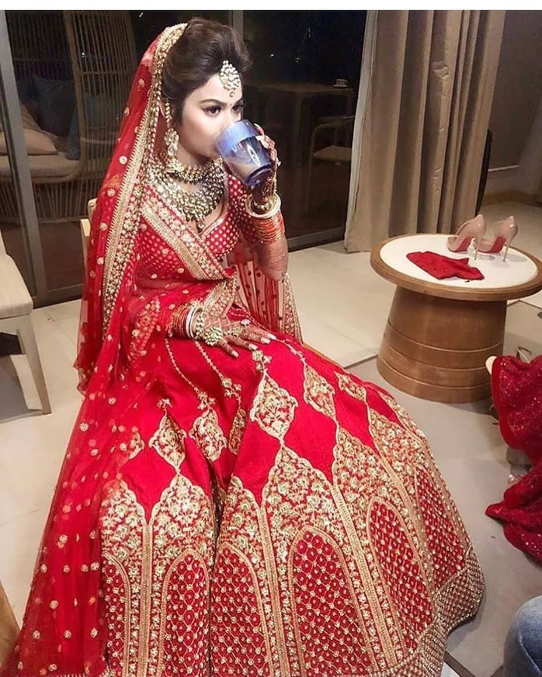 7f0eb4be31bf Cute Bridal in red Dress | Punjabi Bride pics in 2019 | Wedding ...