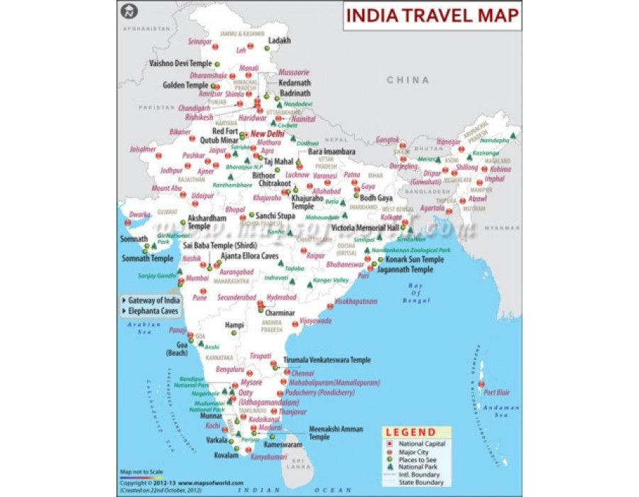 Buy india travel map country maps pinterest buy india travel map gumiabroncs Images