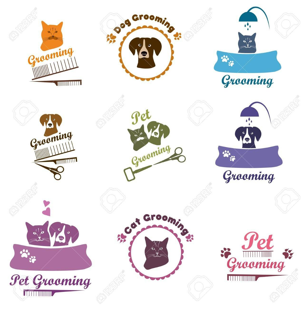Pet Shop Labels And Badges Set Pet Grooming Dog Grooming