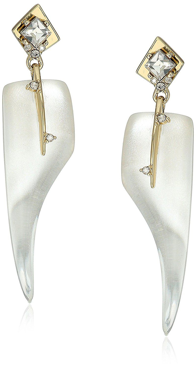 Alexis Bittar Crystal Abstract Thorn Earrings QH5YCi