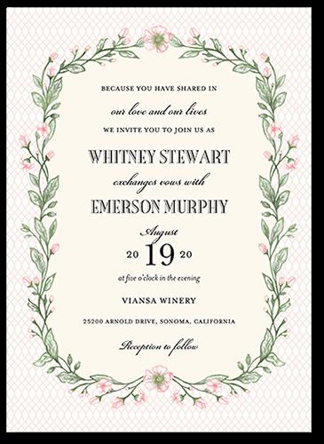 Blooming Lattice 5x7 Wedding Invitations Shutterfly Wedding Invitations White Wedding Invitations Invitations