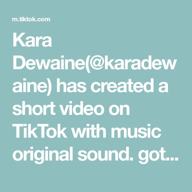 Kara Dewaine Karadewaine Has Created A Short Video On Tiktok With Music Original Sound Got This Fur Coat For My Birthday I Feel Mad Music Video Music Love