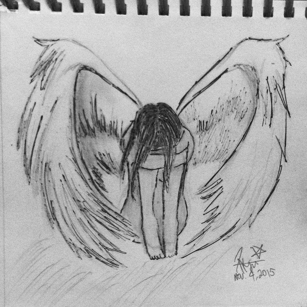 малдере грустный ангел картинки карандашом желтые минералы добывают