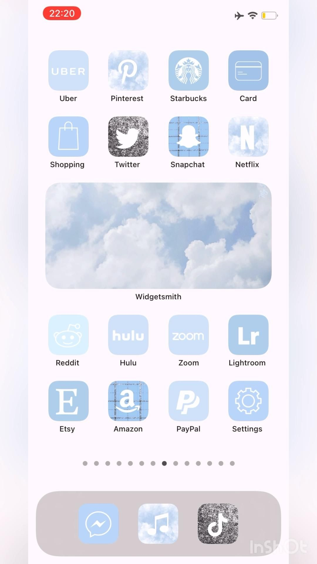 70+ iOS 14 Sky Blue App Icons Pastel Aesthetic Bri