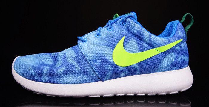 "premium selection e4693 bcc1f Nike Roshe Run Print ""Marble"" Photo Blue"