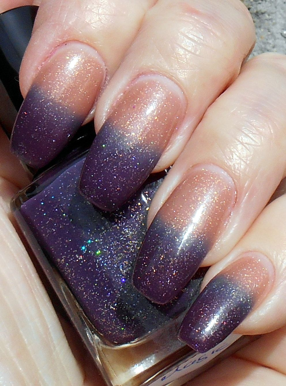 The New Magic Purple To Peach Tri Color Thermal Ter Holo Nail Polish By Promisepolish