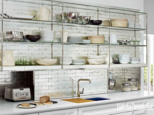 #Kitchen of the Month, October 2012. Design: Mick De Giulio. Open Kitchen Shelves