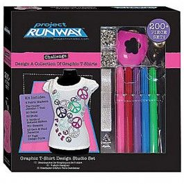 Project Runway Graphics T Shirt Design Studio Set Christmas Gifts For Girls Presents For Kids Tshirt Designs
