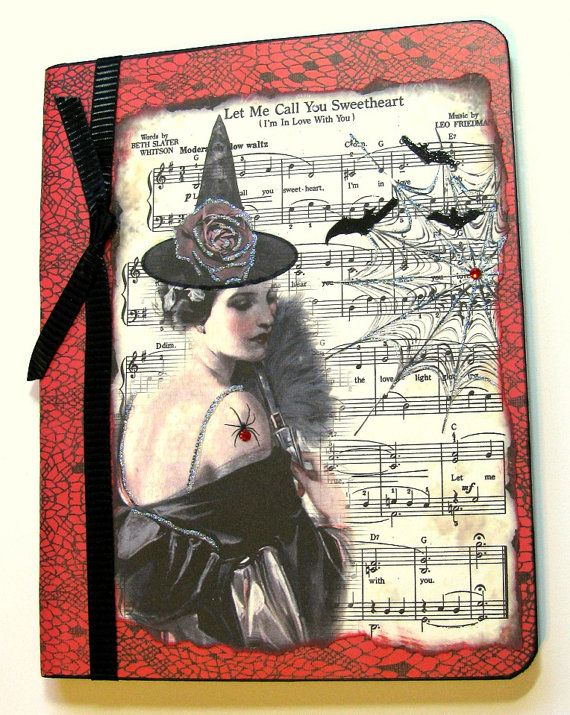 Let Me Call You Sweetheart Journal Diary Altered by Cloud9Whimsy