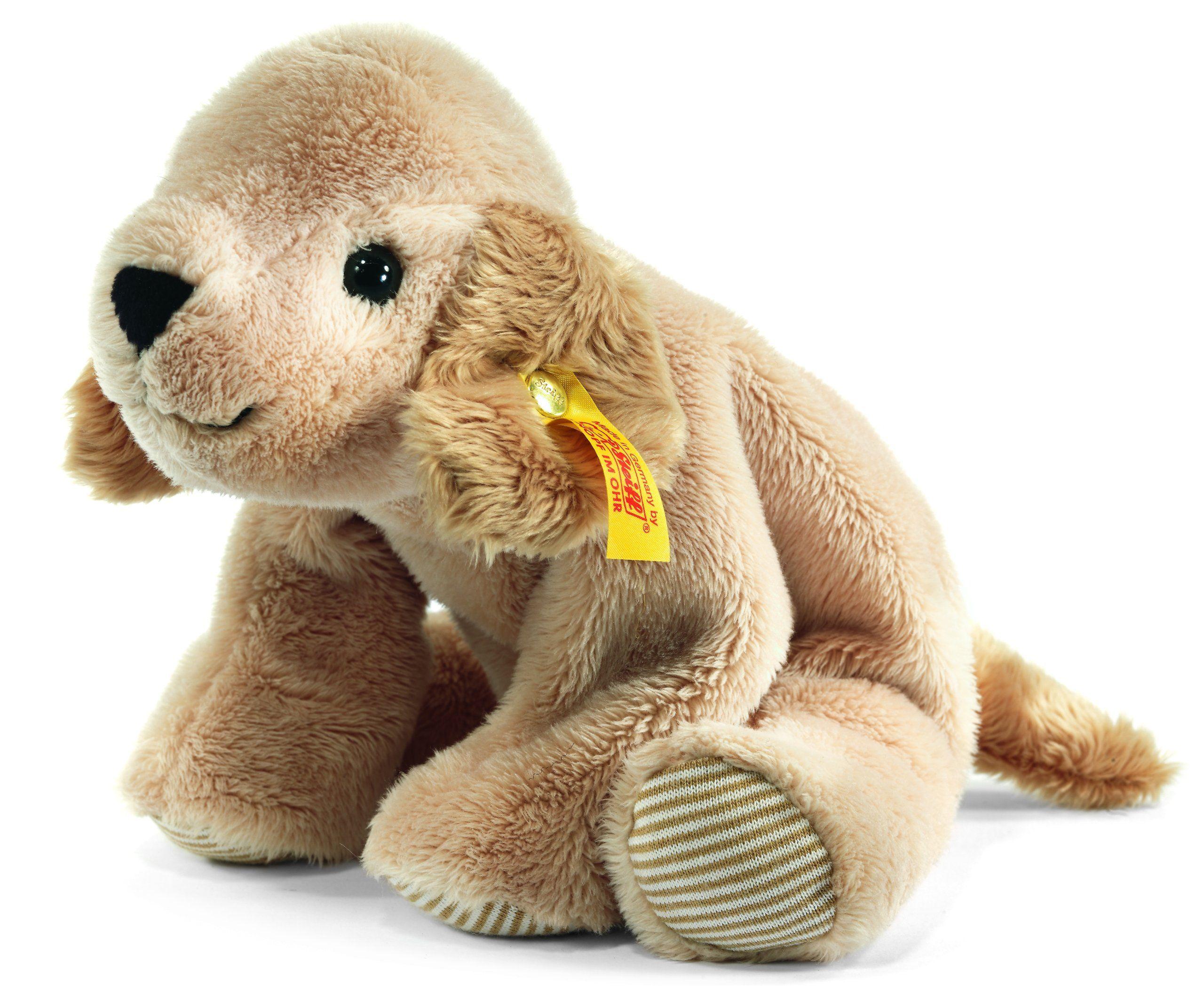 Steiff 281297 - Lumpi Golden Retriever liegend, 16 cm, beige: Amazon.de: Spielzeug