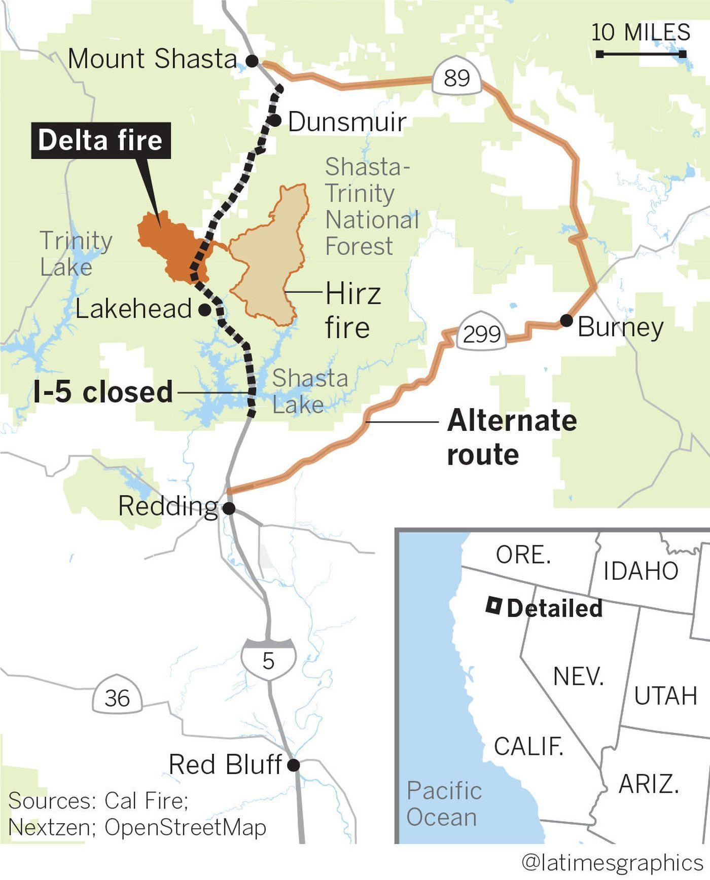 Interstate 5 Still Closed Businesses Slumping As Delta Fire