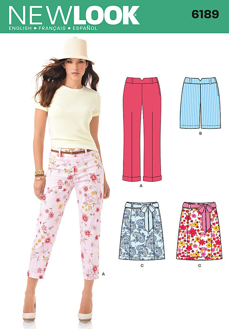 Purchase New Look 6189 Misses Pants Skirt And Shorts And Read Its