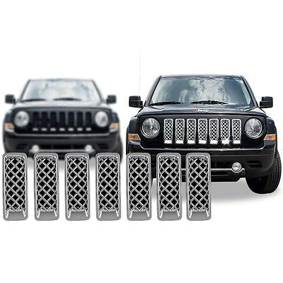 Chrome Grille Overlay For 2011 2012 2013 2014 2015 Jeep Patriot 40 7 Pieces Kit 41 Jeep Patriot Jeep Patriot Accessories Jeep