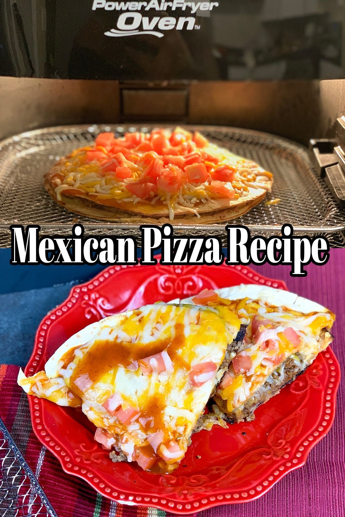 Taco Bell Air Fryer Mexican Pizza Recipe ⋆ by Pink
