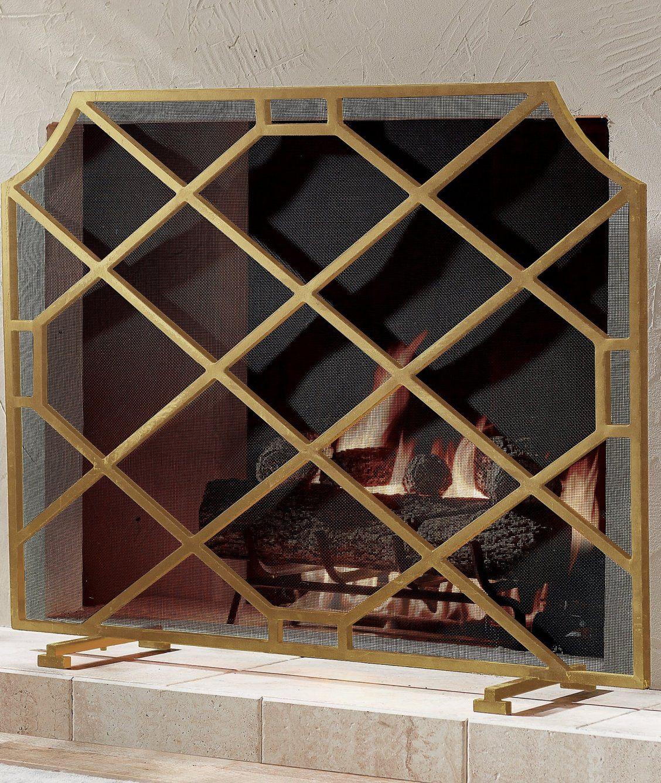 Beckett Fireplace Screen Frontgate Glass Fireplace Fireplace Screens Glass Fireplace Screen