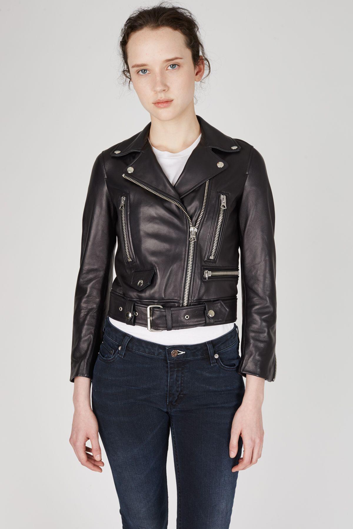 Acne Studios Mock Leather Motorcycle Jacket WOMEN Acne