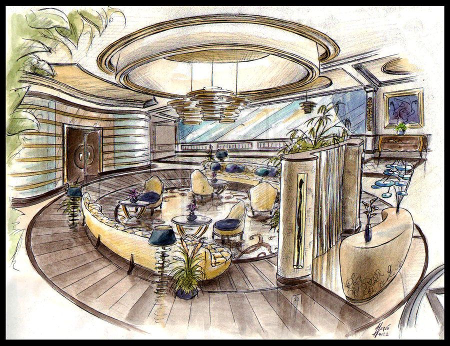 Best Hand Drawn Interior Design And Architectural Renderings
