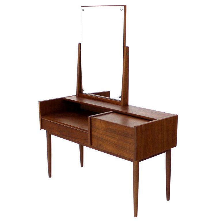 Danish Mid Century Modern Teak Dressing Table Vanity Dressing Table Vanity Mid Century Modern Vanity Mid Century Modern Furniture