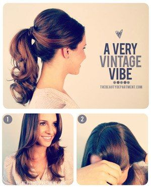 1950s Inspired Ponytail Pretty Pinterest Hair Hair Styles