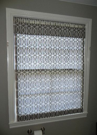 Best Window Blinds For A Master Bathroom: Top Down Bottom Up Roman Shade