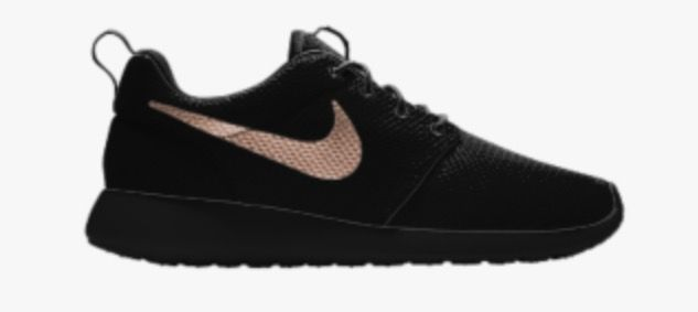 BlackRose Gold Nikes | stuff I want . | Gold nike shoes