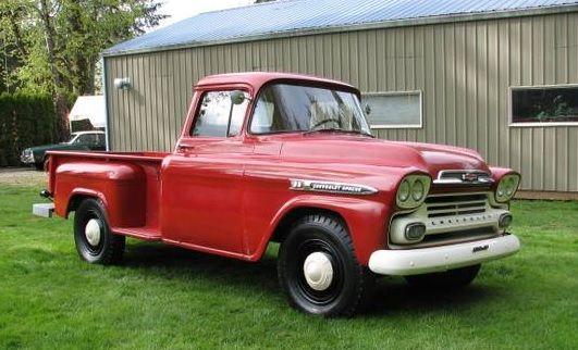 30k Mile Farm Truck 1959 Chevy Apache 36 Lnb Classic Trucks Classic Cars Vintage Trucks