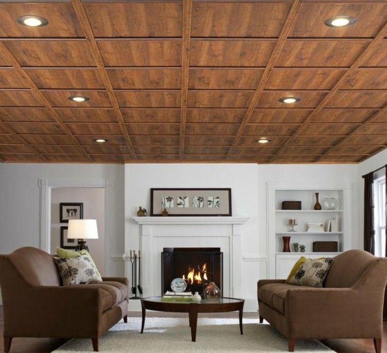 falso techo de madera al estilo clsico - Falso Techo Madera