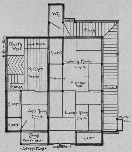 these houses were derived from the greek house with its two courts the plan - Architectural House Plans