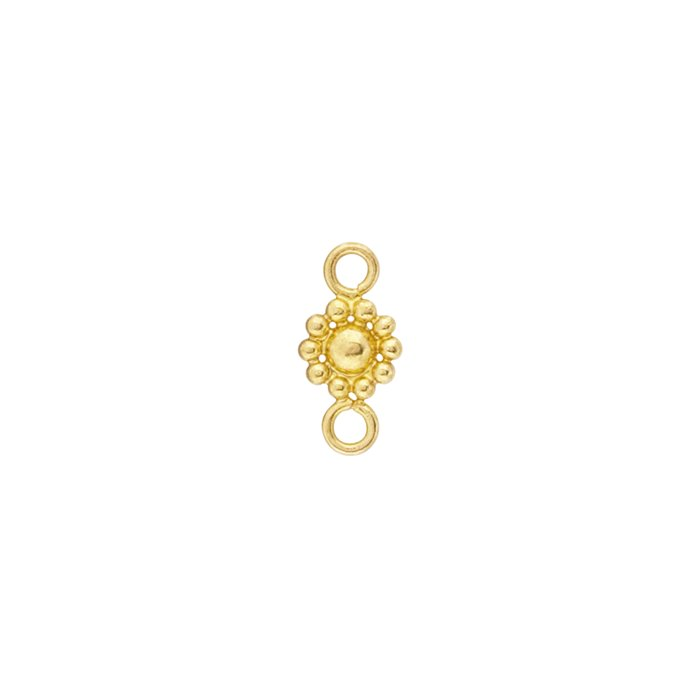 18K Yellow Gold Bali Link Component