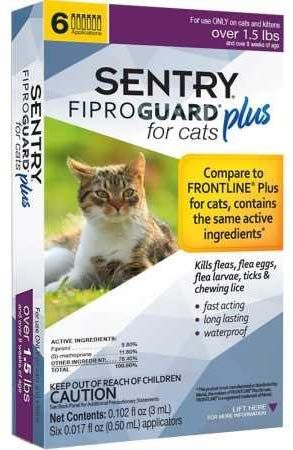 Sentry Fiproguard Plus for Cats, SqueezeOn >>> Read more