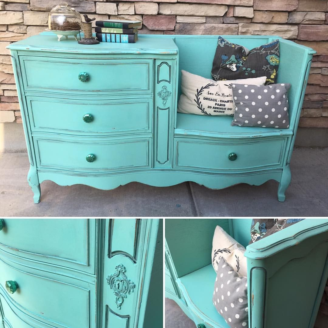 Dresser Missing Drawers Turned In To A Bench By Jami Ray Vintage  # Muebles Efecto Vintage