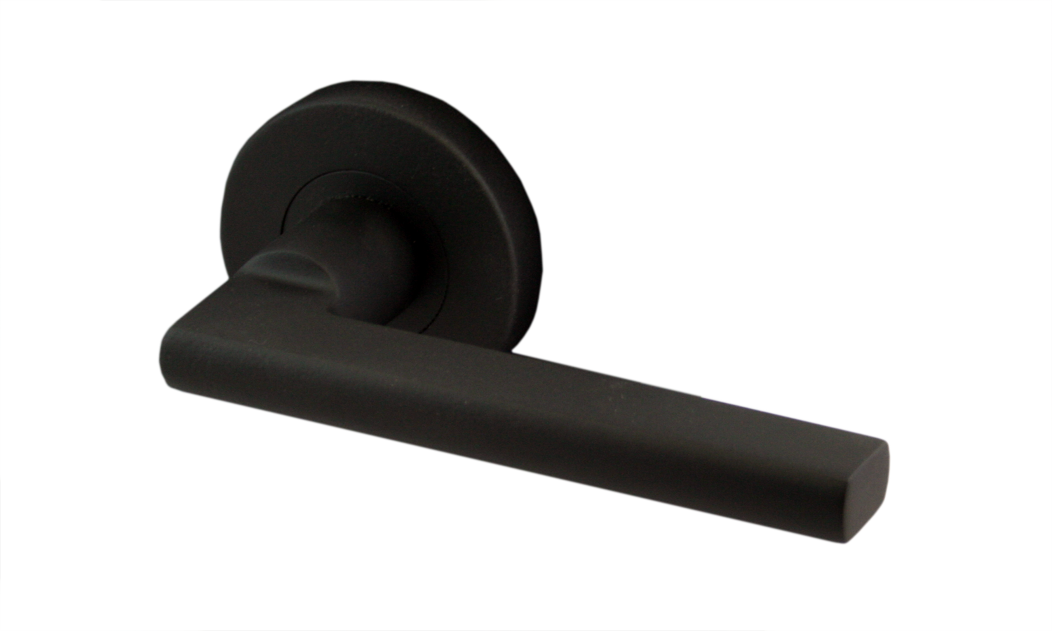 Matte Black Door Hardware Round Artemis Shown Here More Black Door Handles Door Handles Black Door Hardware