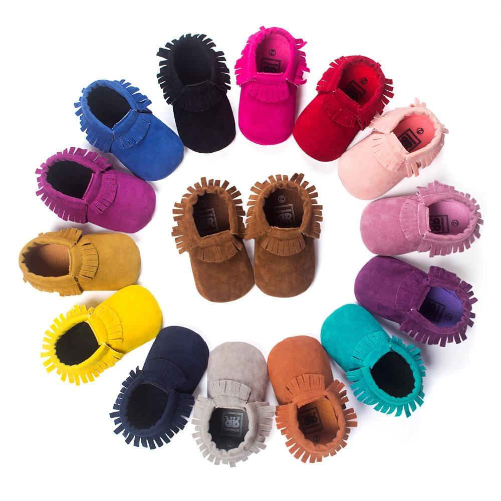 Baby Tassel Shoes Soft Leather Sole