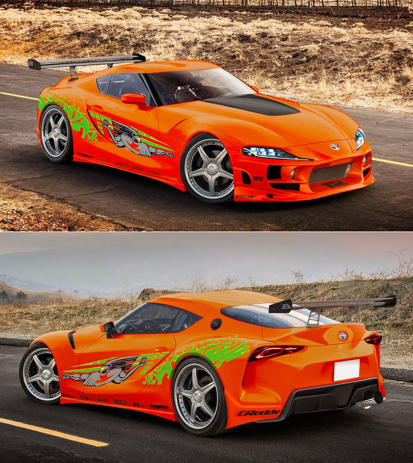 2020 Toyota Supra Spotted Filming Scenes For Fast And Furious 9 Toyota Supra Cars Super Cars