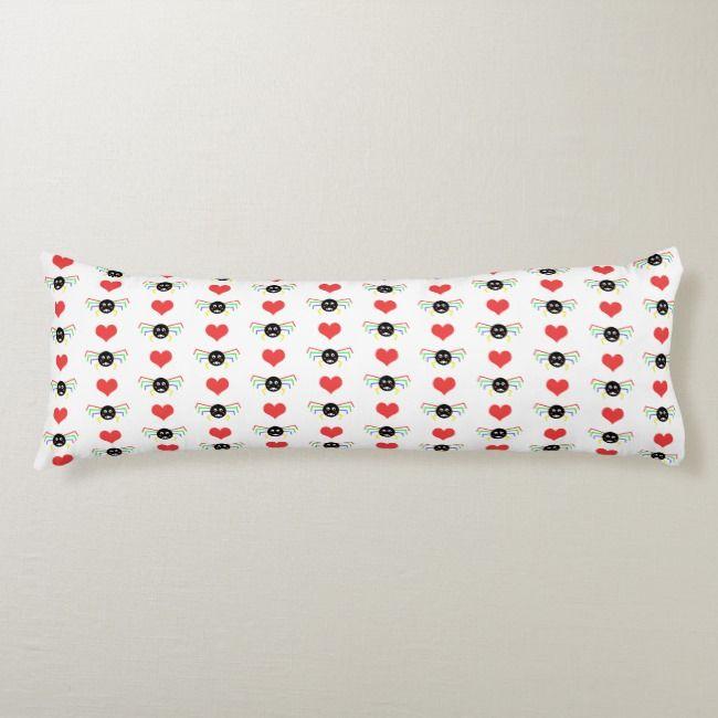 Spider Body Pillow Zazzle Com Body Pillow Halloween Home Decor Pillows