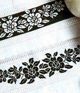Punto de cruz gratis cenefas ideales para toallas en un solo color punto de cruz pinterest - Cenefas punto de cruz para toallas de bano ...