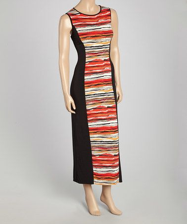 Look at this #zulilyfind! Red Stripe Sleeveless Maxi Dress - Women & Plus by StellaMax #zulilyfinds