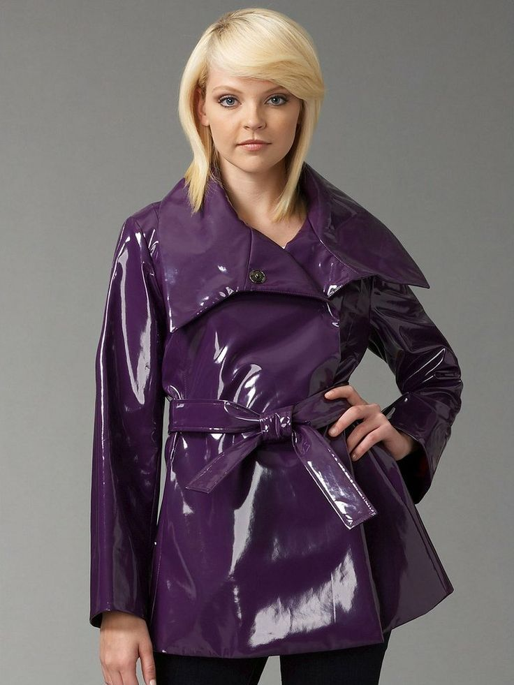 Violet PVC Jacket | Raincoat | Pinterest