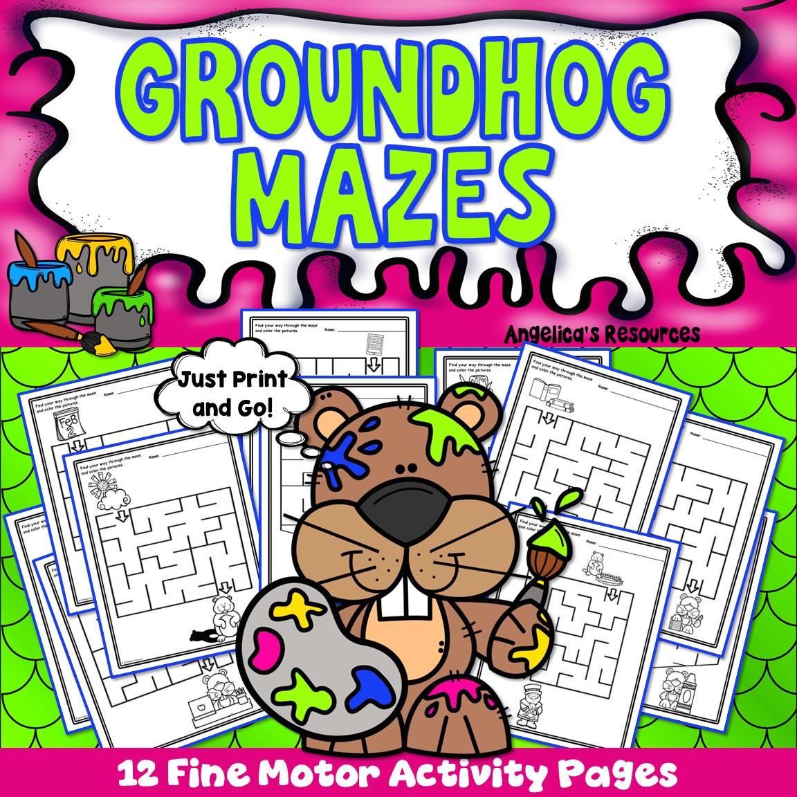 Groundhog Day Activities Mazes