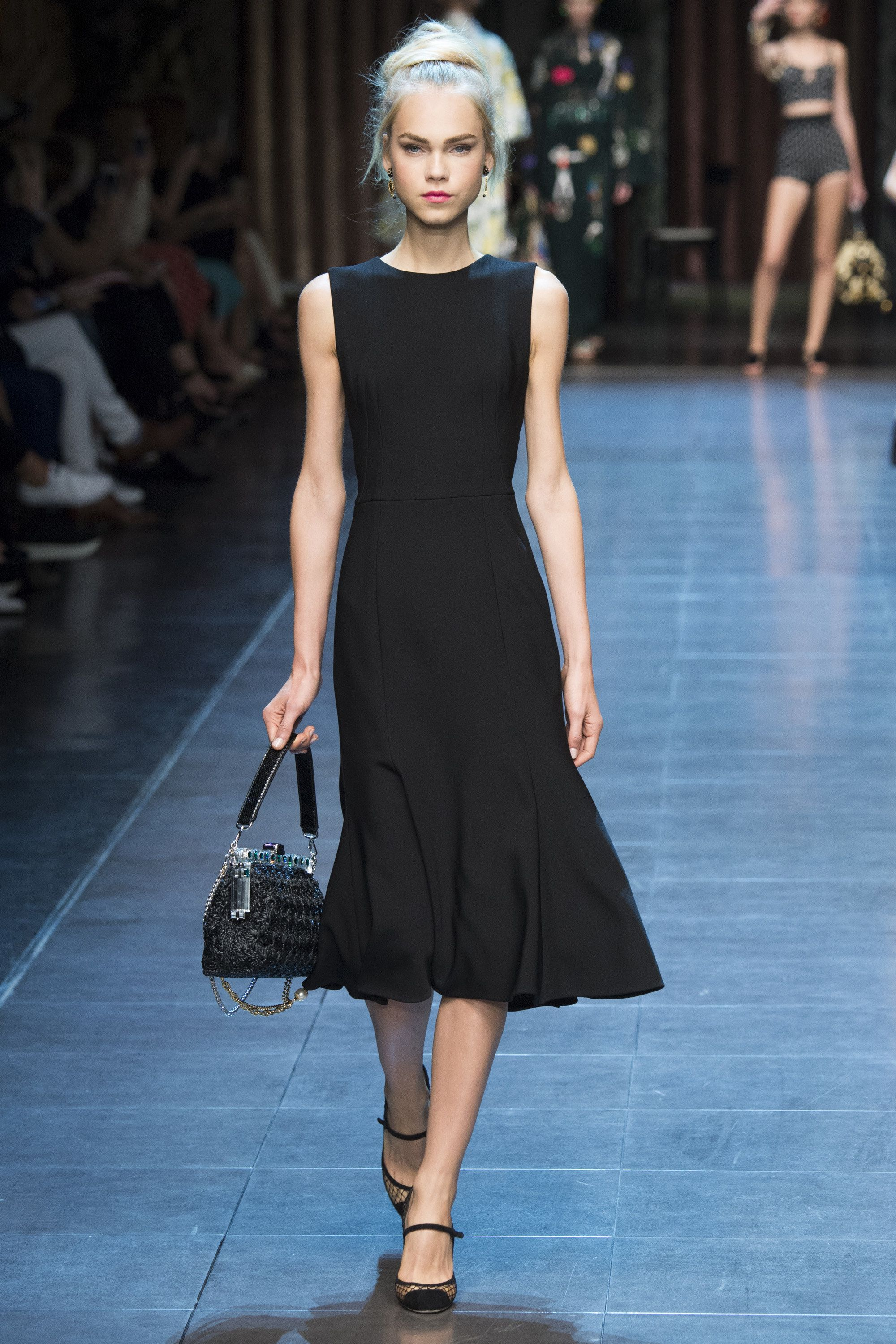 ff094af4910 Sleek and Chic Black Sleeveless Dress by Dolce  amp  Gabbana Spring 2016  Ready-to