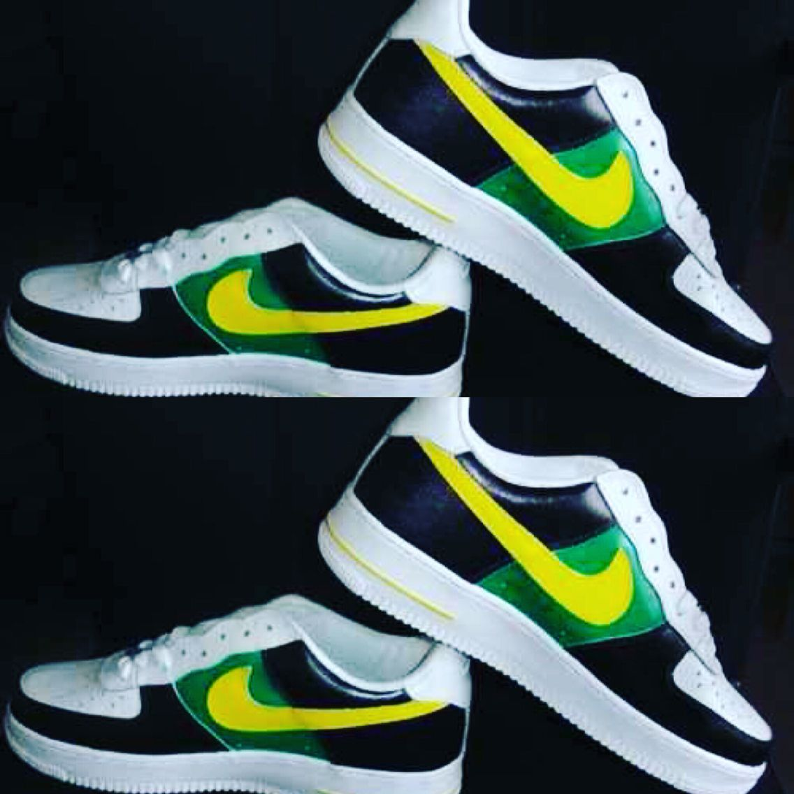 #customshoe #nikeairforce1low shoe comes with purchase receipt from foot locker✅